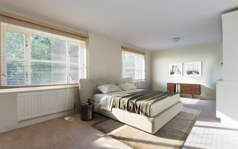 B 1st Floor Bedroom Staged