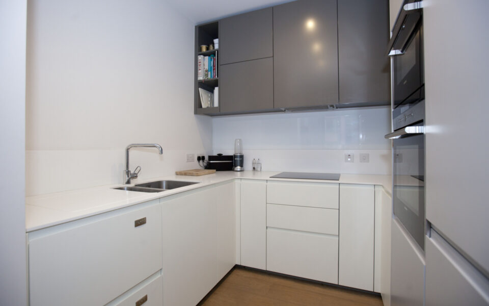Kitchen in flat for sale in the Plimsoll building