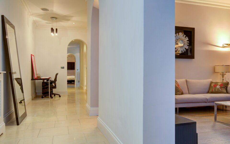 Hallway in flat in London