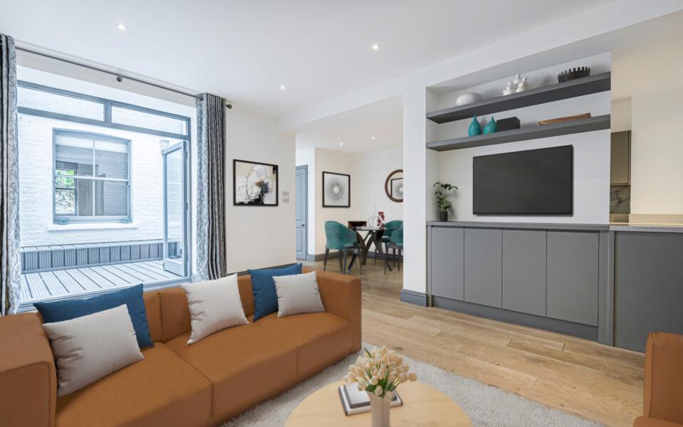3 Bed flat to let in Kensington