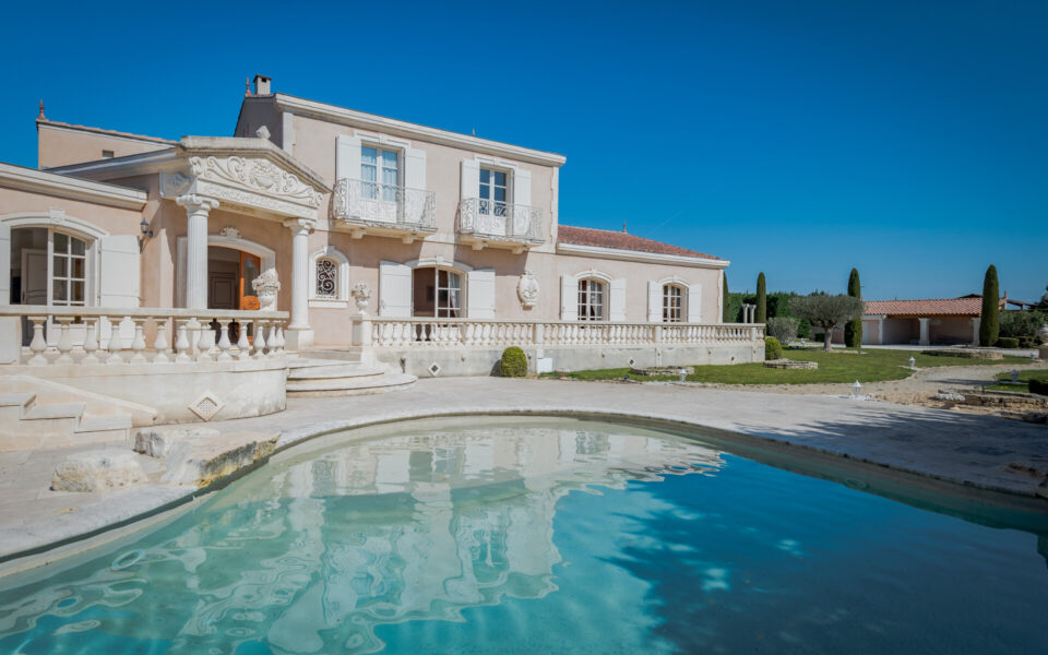 French property with pool